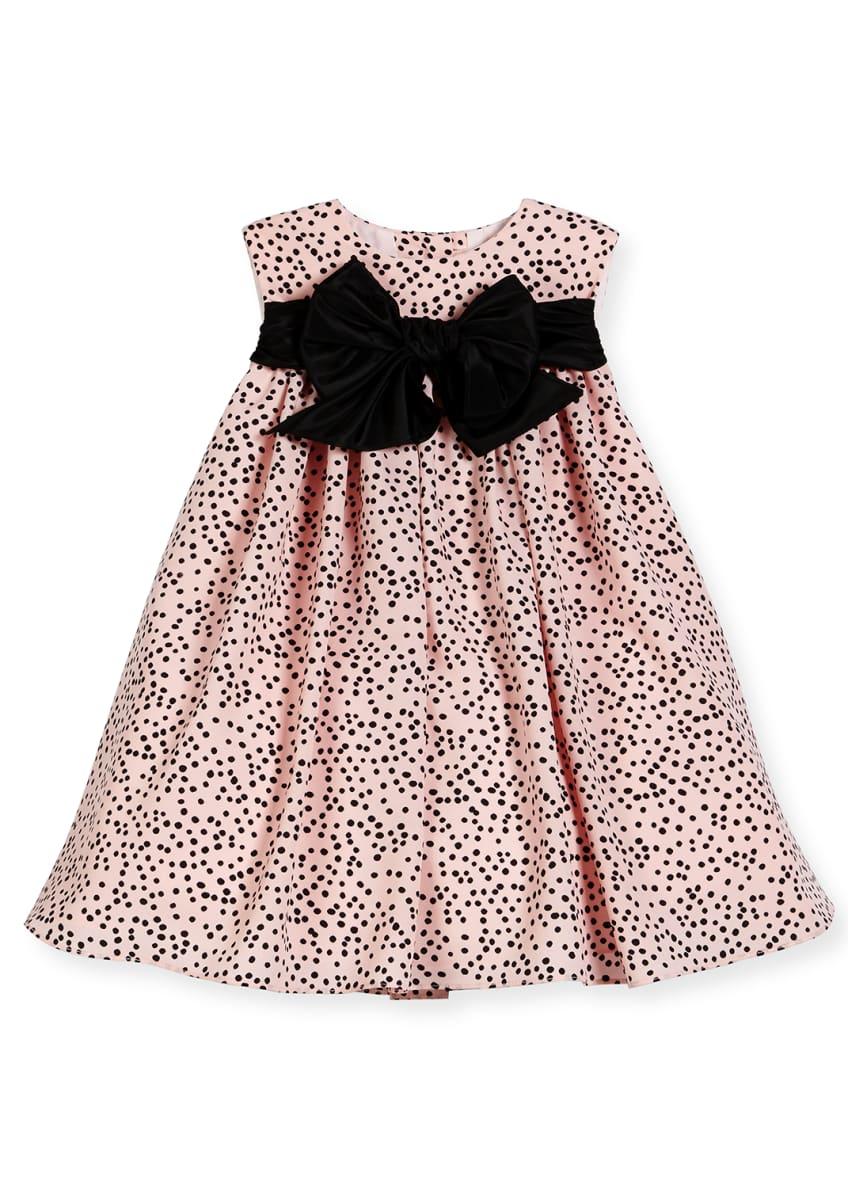 Helena Sleeveless Polka-Dot Shift Dress, Pink/Black & Matching
