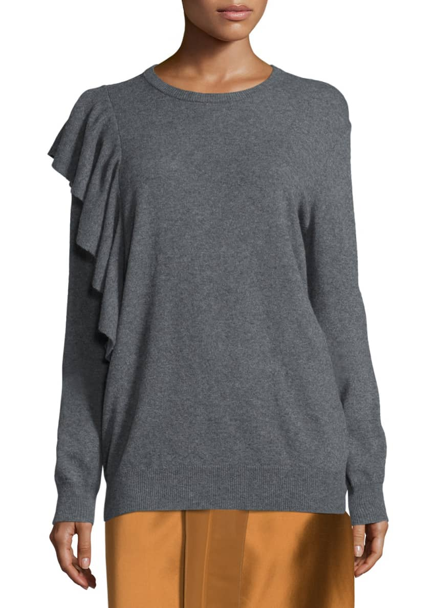 Elizabeth & James Orly Ruffle-Trim Pullover Sweatshirt &