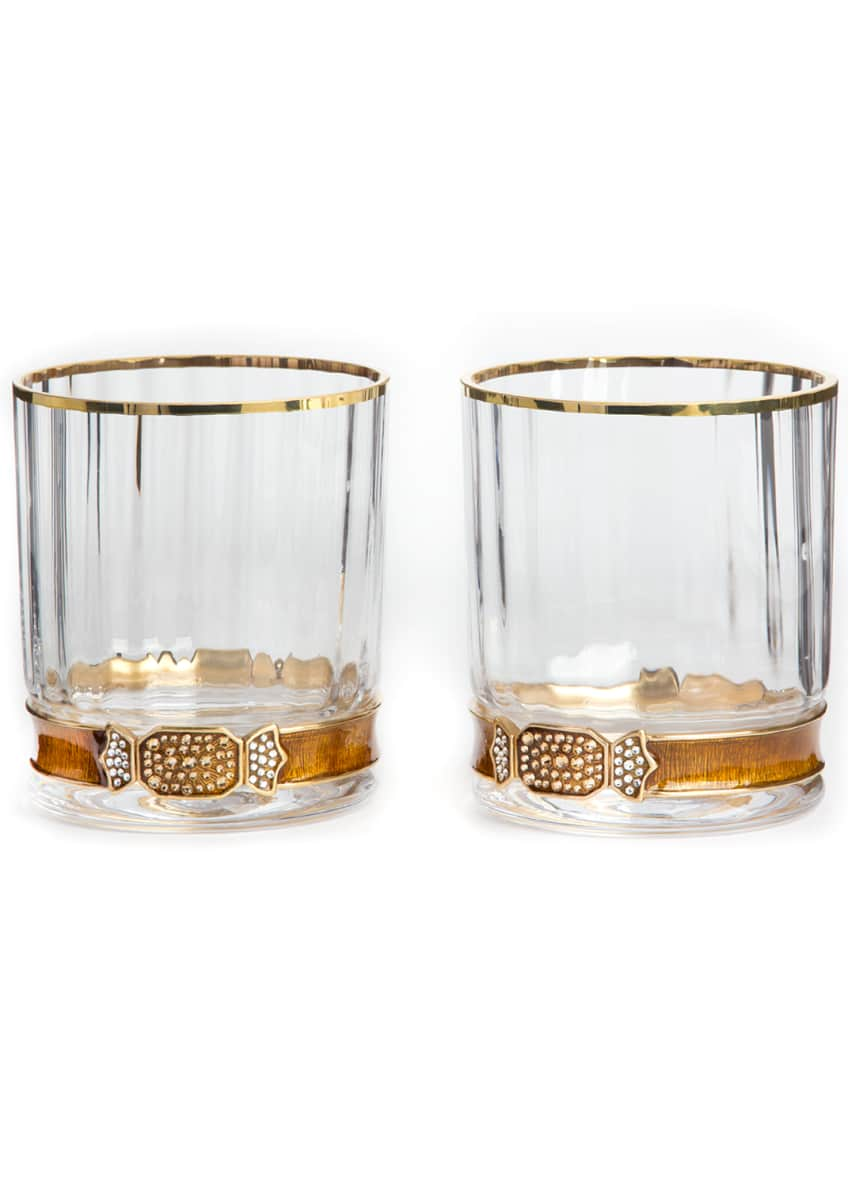Jay Strongwater Double Old-Fashioneds, Set of 2