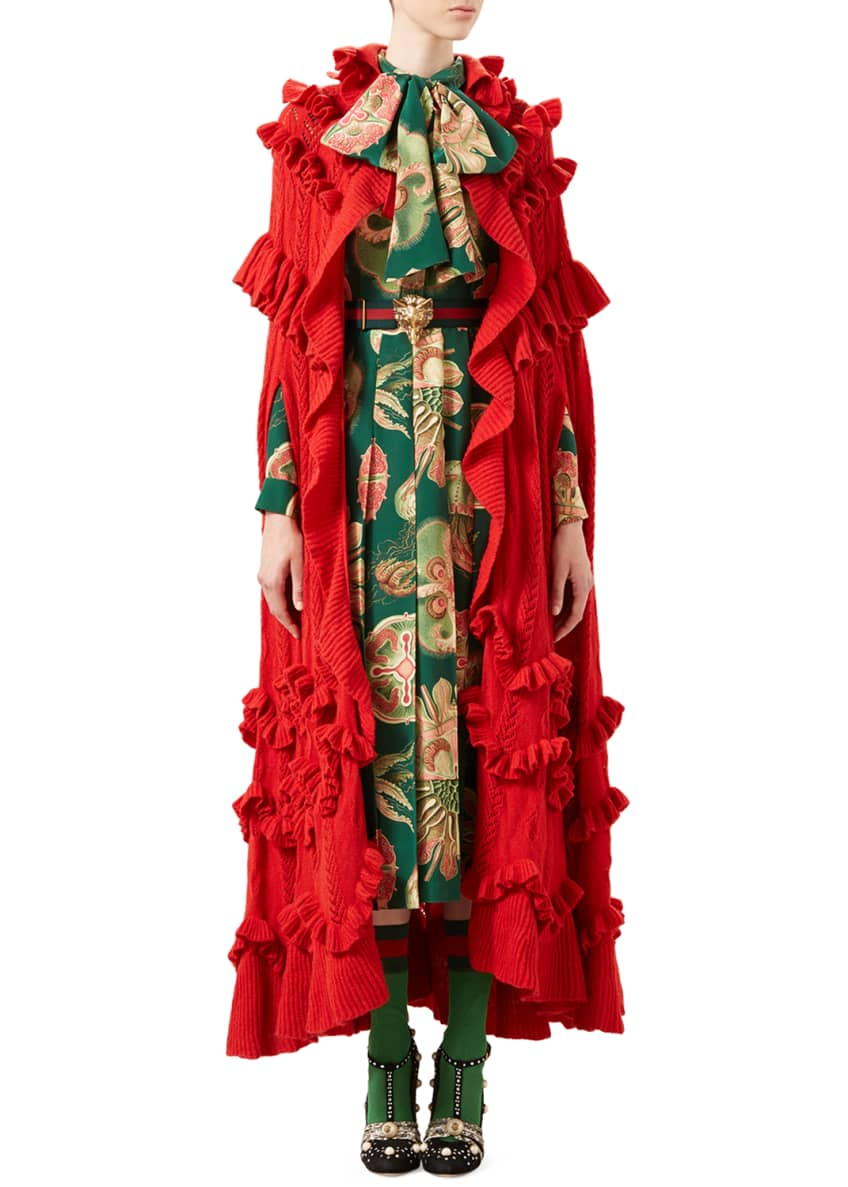 Gucci Cape & Dress & Matching Items