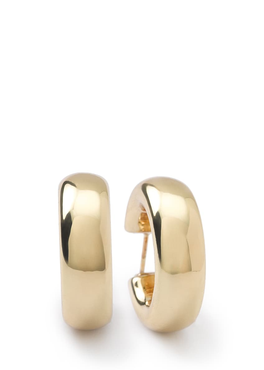 Ippolita 18K Glamazon Thick Small Flat Hoop Earrings