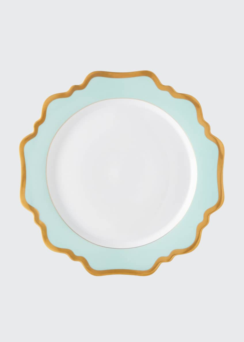 Anna Weatherley Aqua Rimmed Dinner Plate