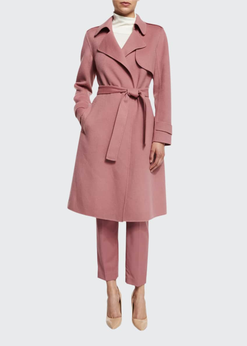 Theory Oaklane New Divided Open-Front Trench Coat, Leendelly