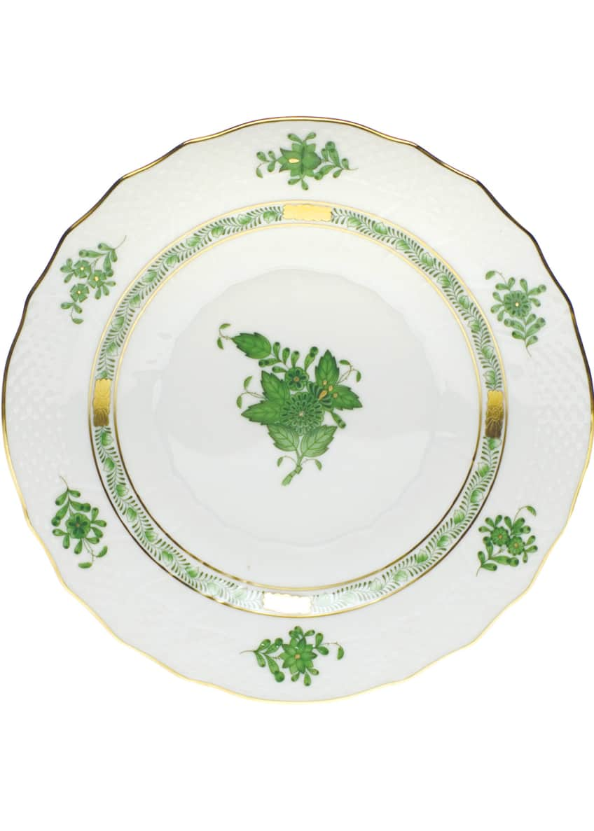 Herend Green Chinese Bouquet Salad Plate