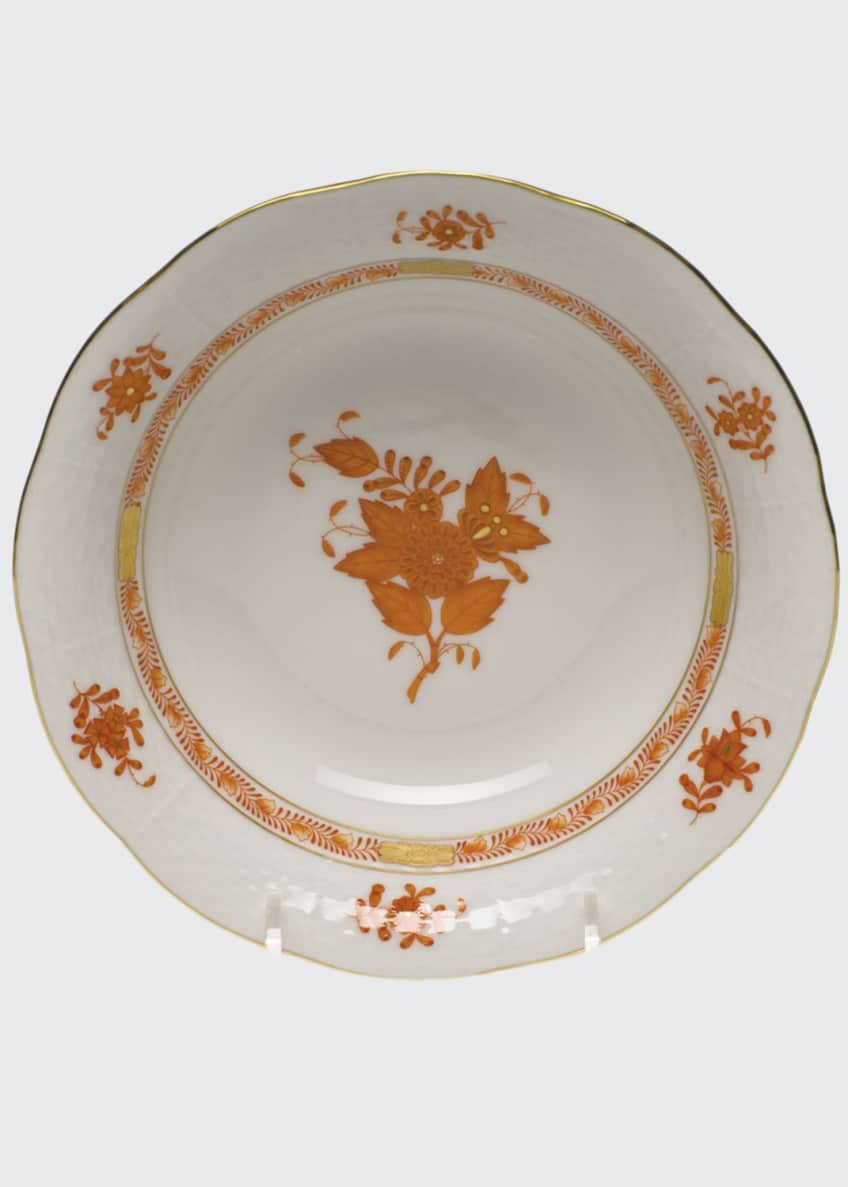 Herend Chinese Bouquet Rust Oatmeal Bowl