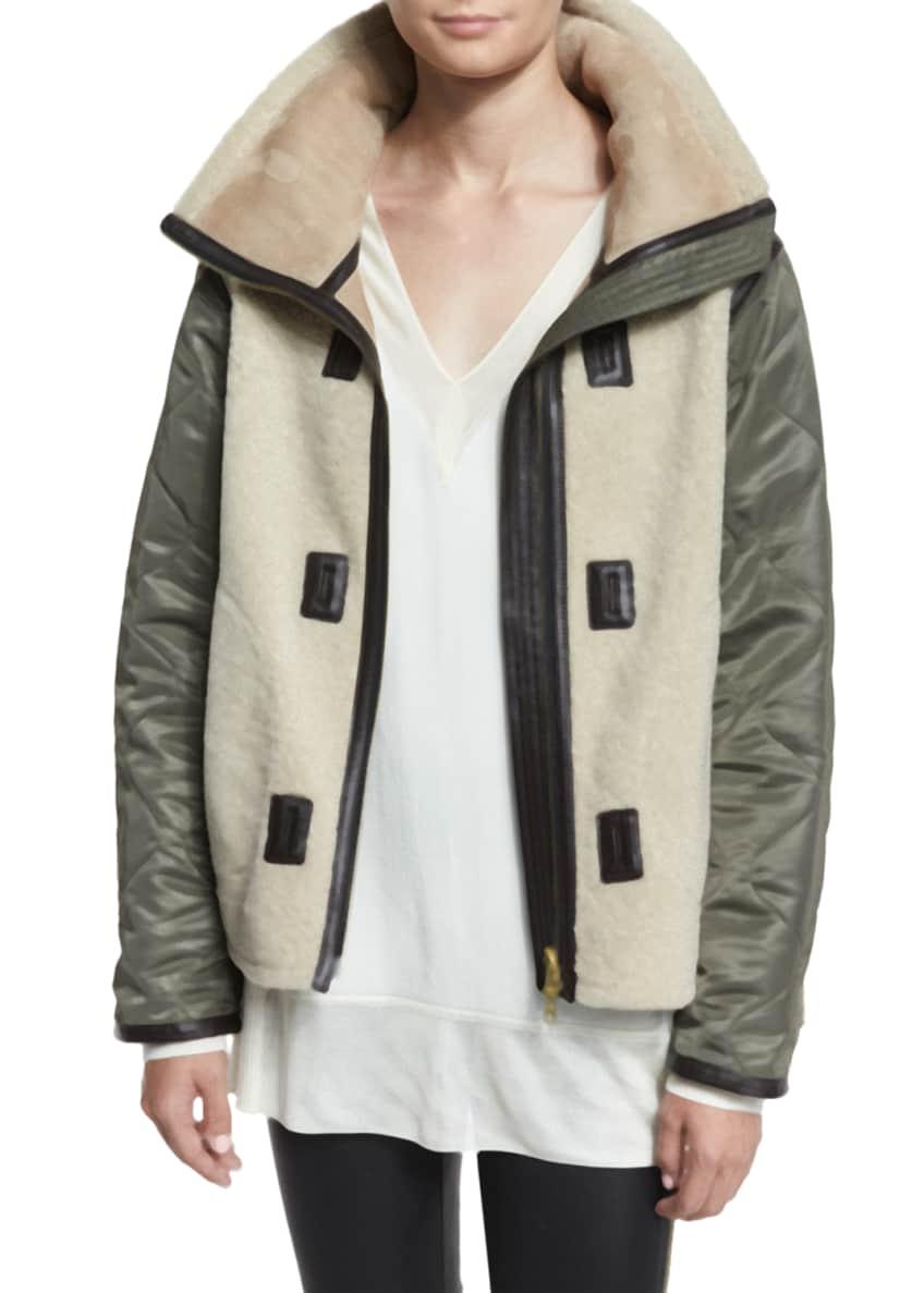 Rag & Bone Elson Shearling Liner Jacket, Vivienne