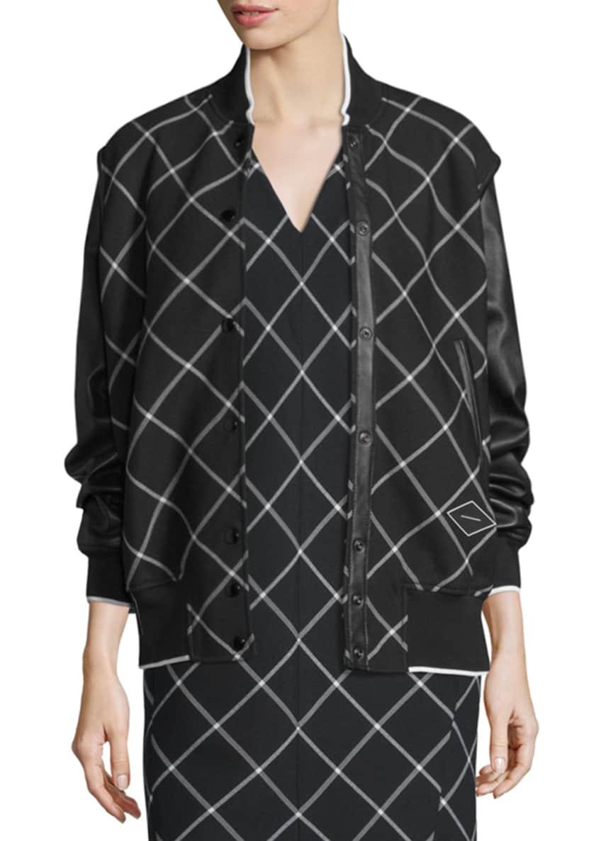 Rag & Bone Edith Windowpane Varsity Jacket &