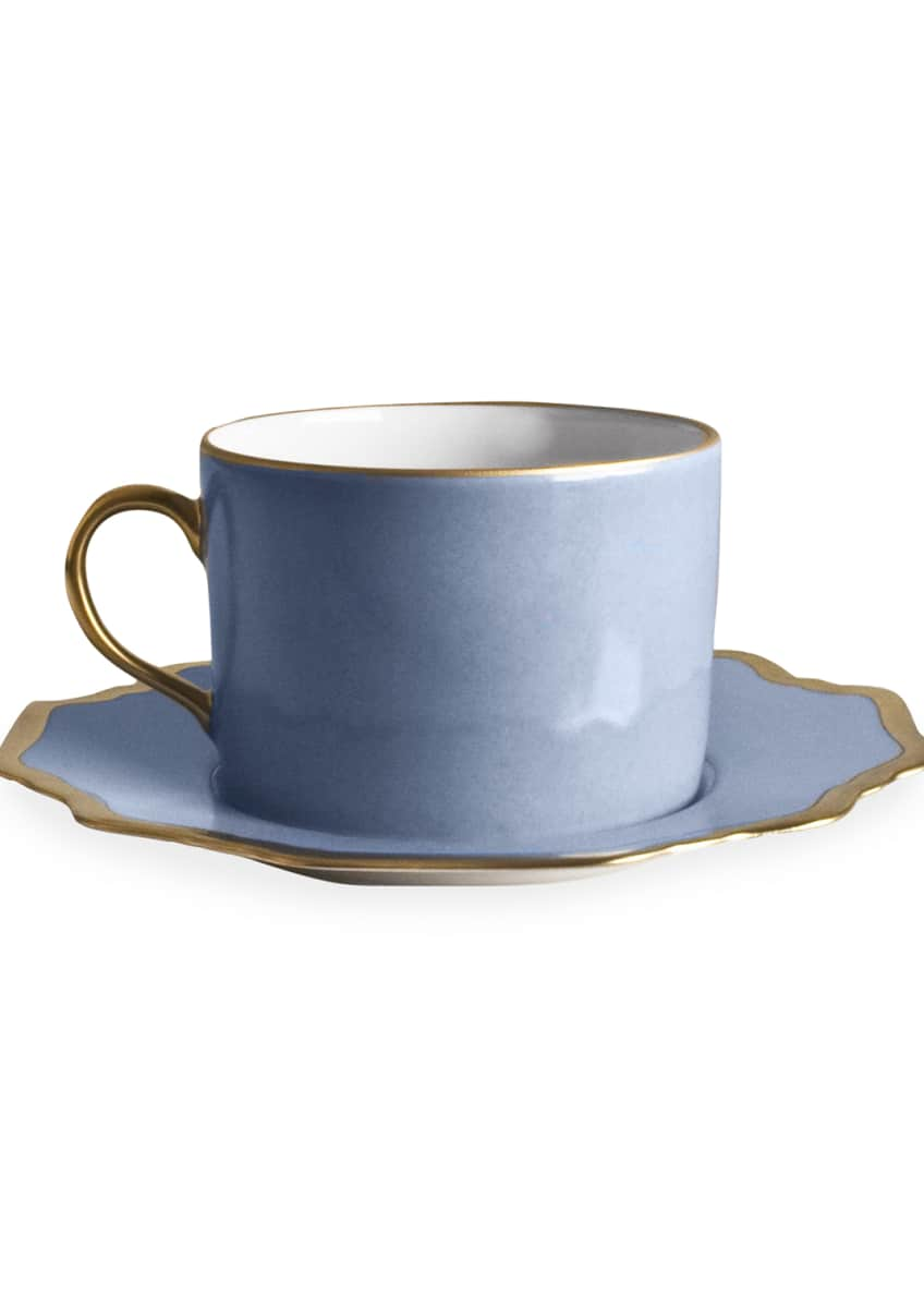 Image 1 of 1: Anna's Palatte Sky Blue Tea Saucer