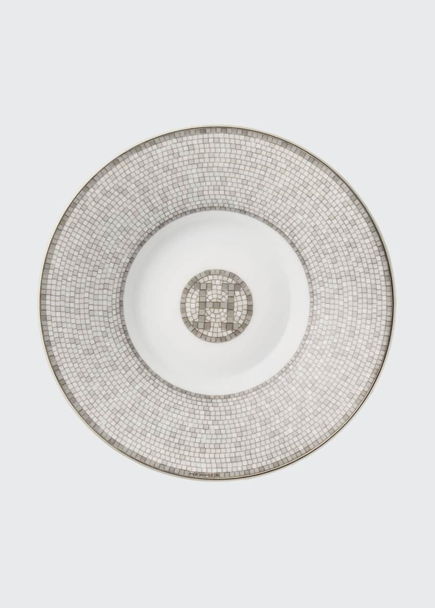 Image 1 of 3: Mosaique Au 24 Platinum Coffee Cup and Saucer Set