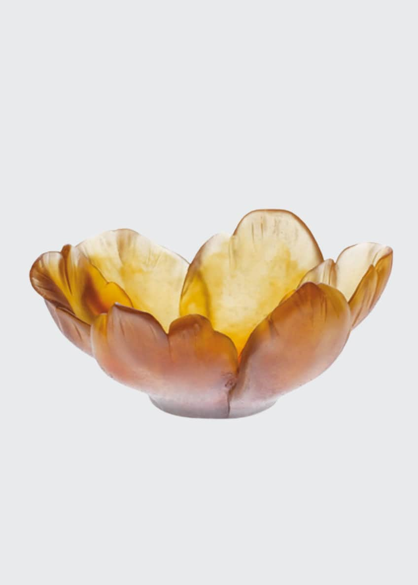 Daum Small Amber Tulip Bowl