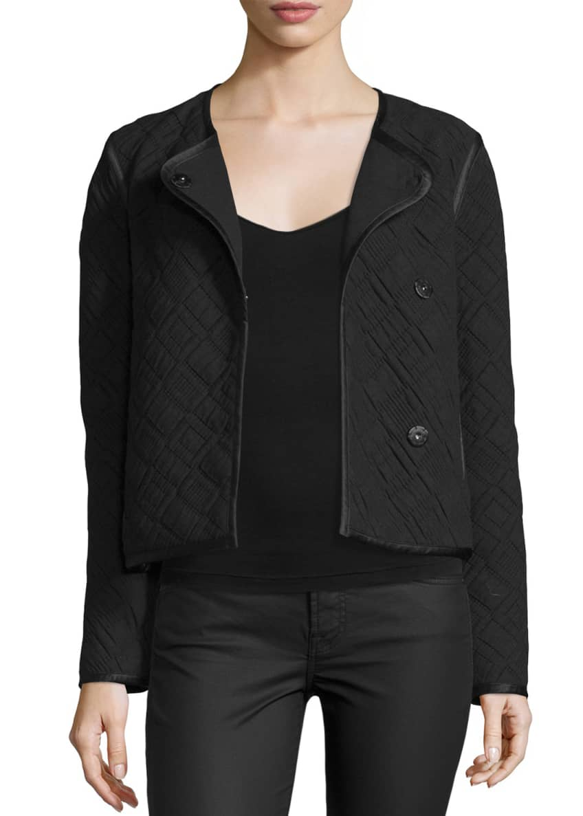 Elizabeth & James Quincy Quilted Snap-Front Jacket &
