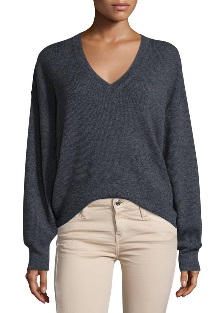 Iro Willy V-Neck Wool Sweater & Jarodcla Stretch