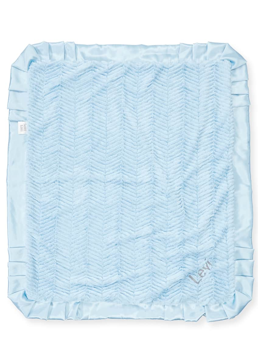 Image 1 of 1: Ziggy Plush Receiving Blanket, Blue