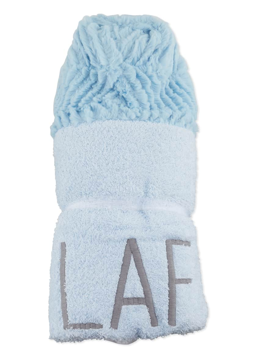 Image 2 of 2: Ziggy Hooded Towel, Blue