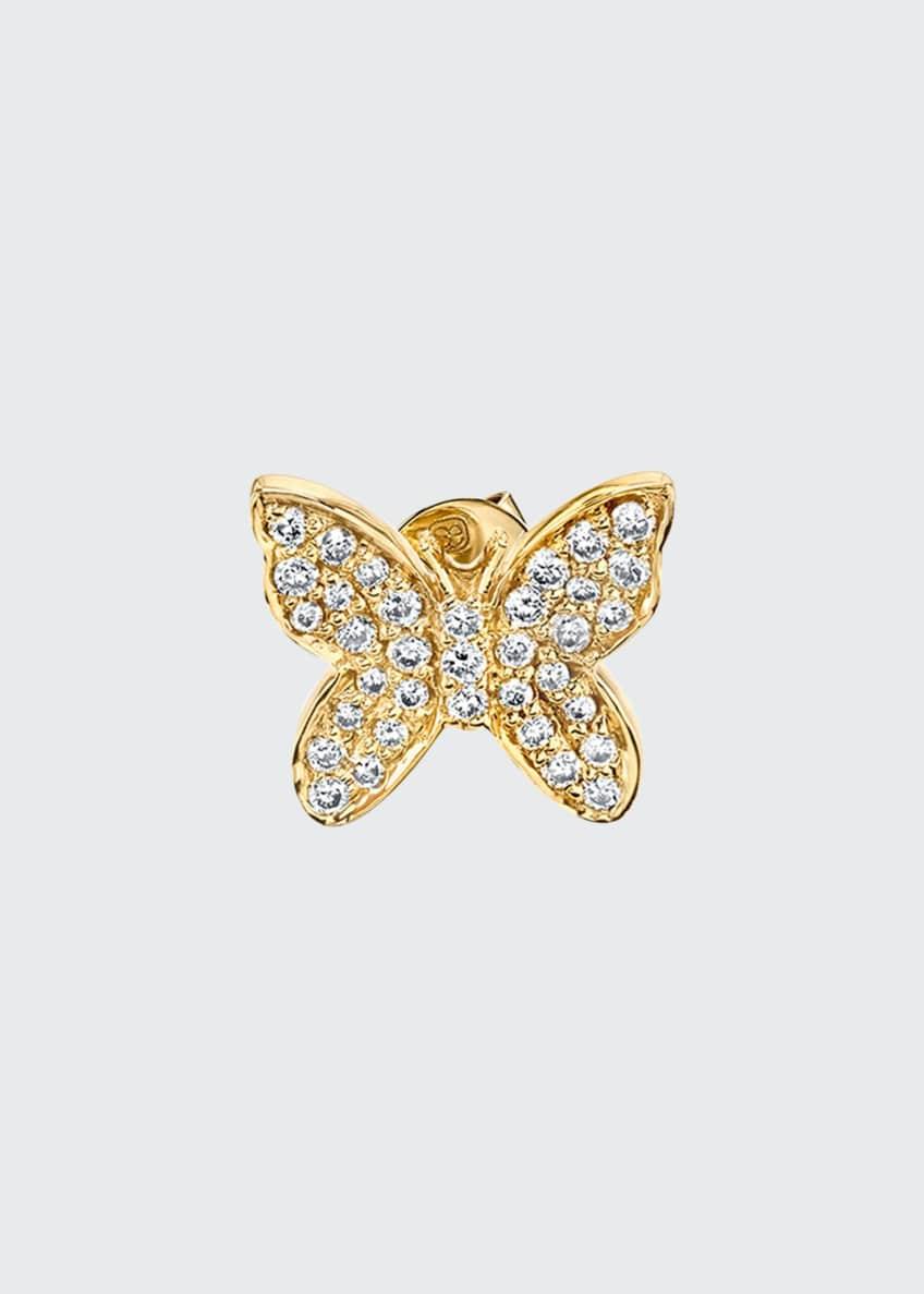 Sydney Evan 14k Diamond Butterfly Single Stud Earring