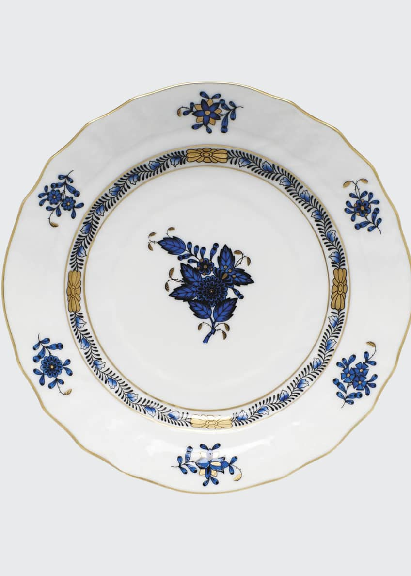 Herend Chinese Bouquet Black Sapphire Bread & Butter