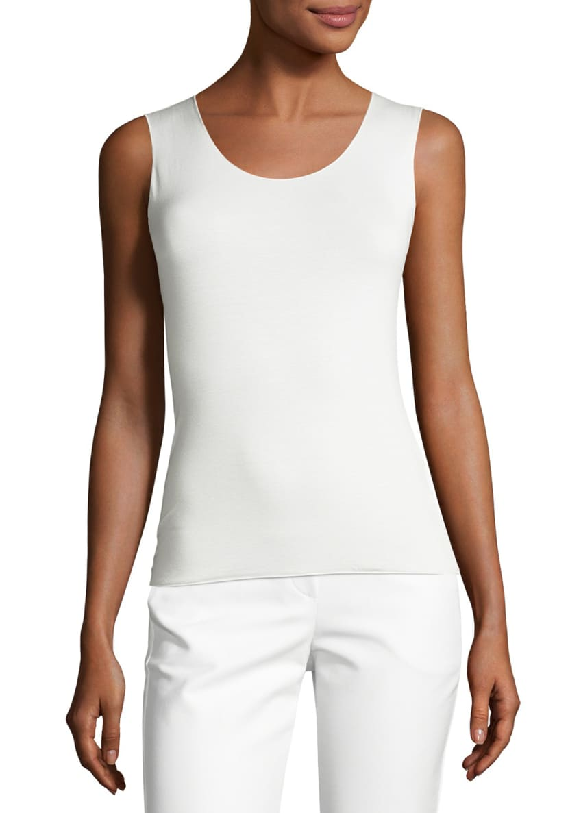 Armani Collezioni Sleeveless Stretch-Jersey Top Top & Wide-Leg