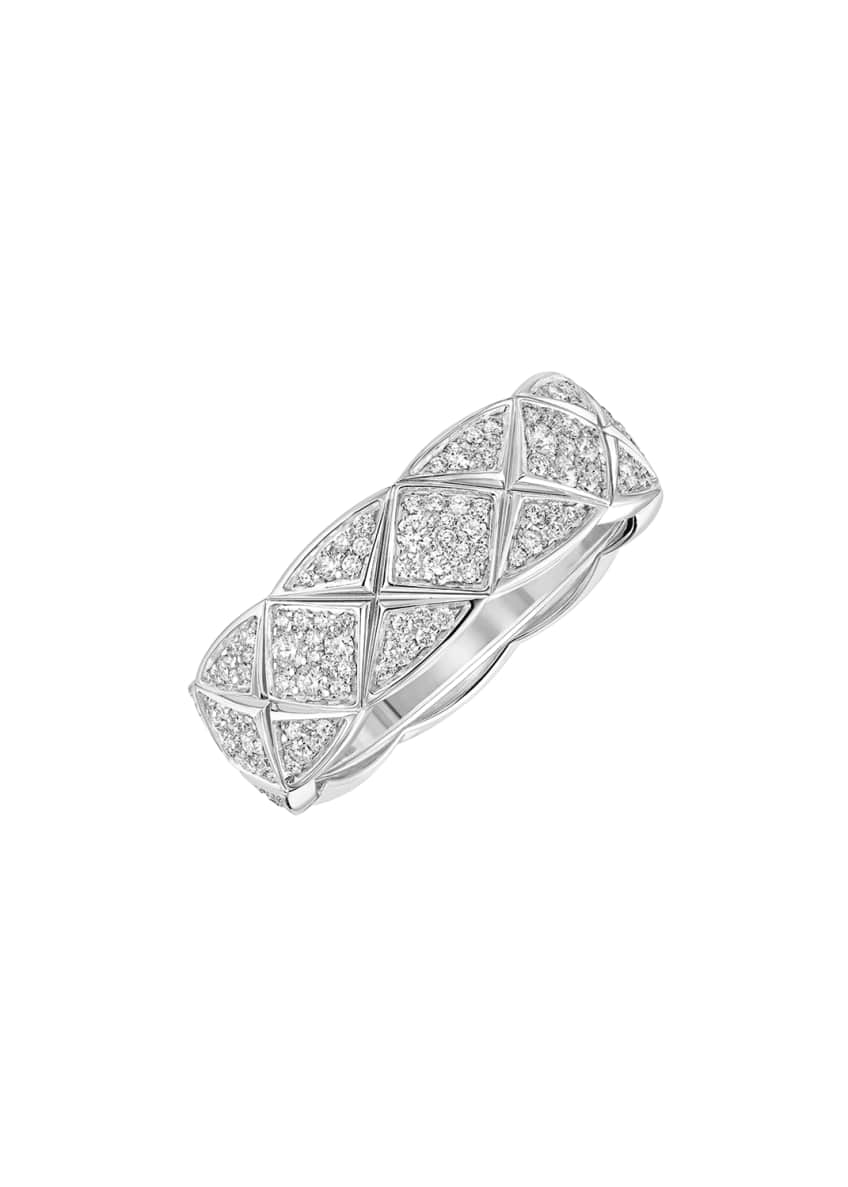 Image 1 of 1: COCO CRUSH Ring in 18K White Gold with Diamonds, Small Version