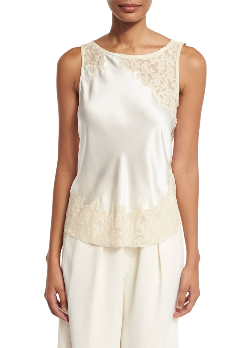 Elizabeth & James Fiora Sleeveless Silk Satin Top