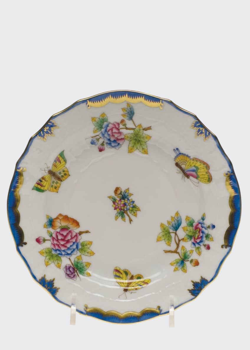 Herend Queen Victoria Blue Bread & Butter Plate