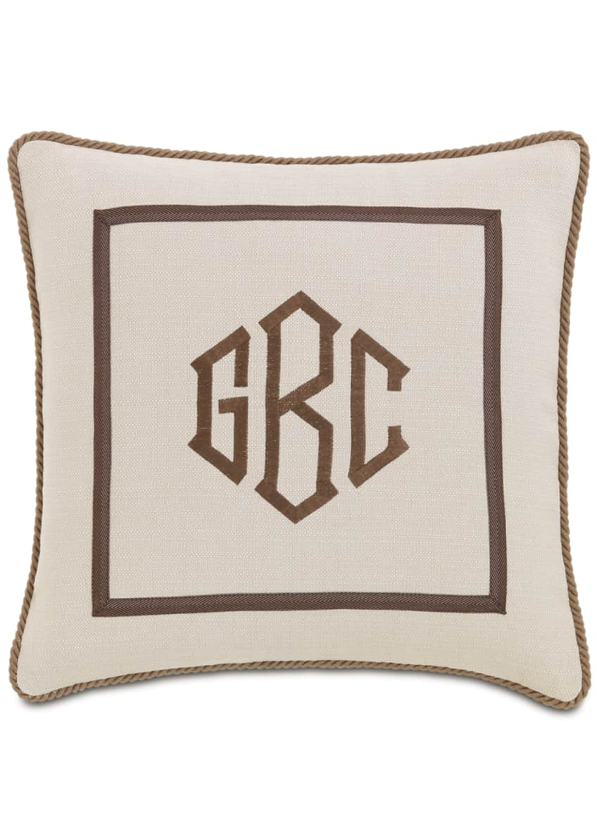 Image 1 of 1: Vivo Bisque Pillow with Monogram