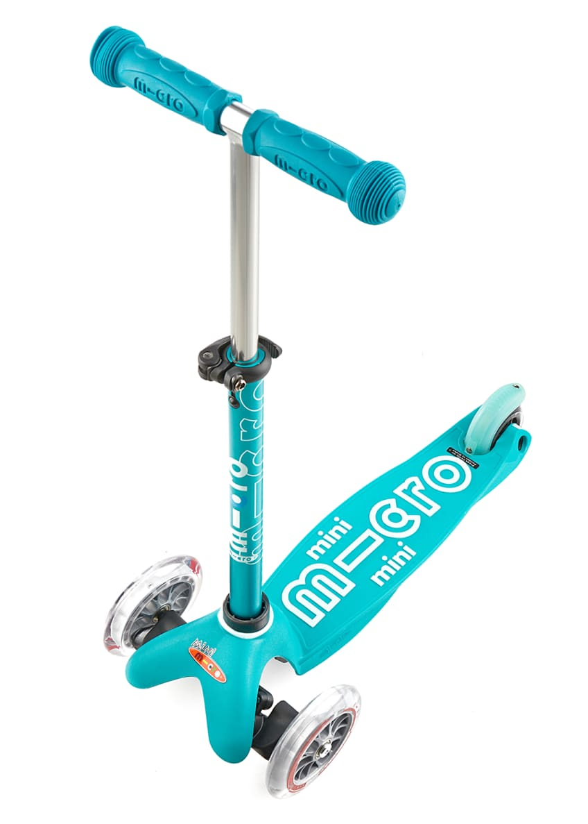 Image 2 of 2: Micro Mini Deluxe Kick Scooter, Aqua, Ages 2-5