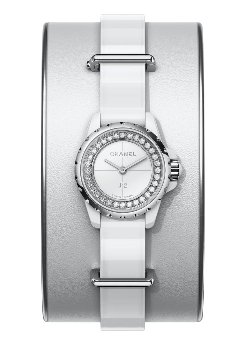 Image 1 of 1: J12 XS White Small Cuff Watch