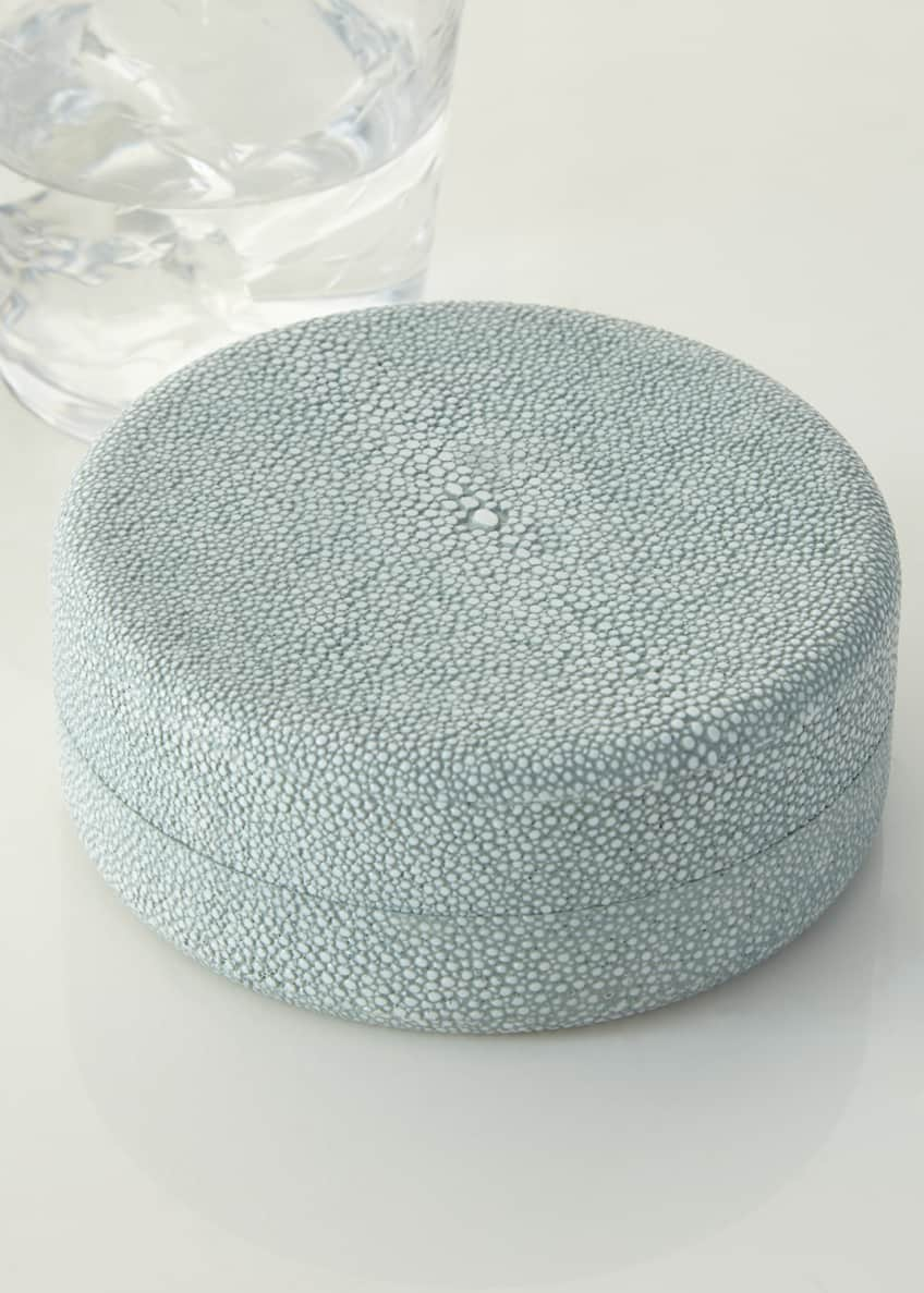 Image 2 of 2: Faux-Shagreen Coaster Set