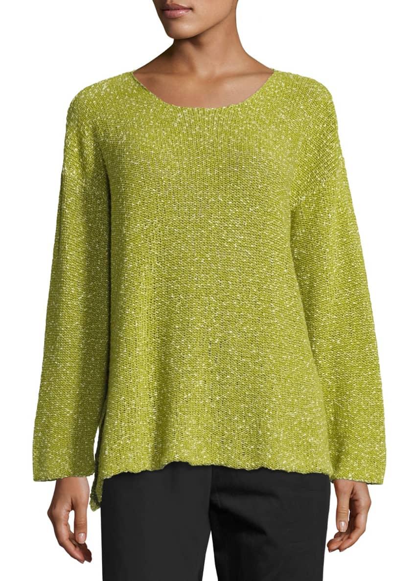Eskandar Round-Neck Corded Cotton Sweater & Matching Items