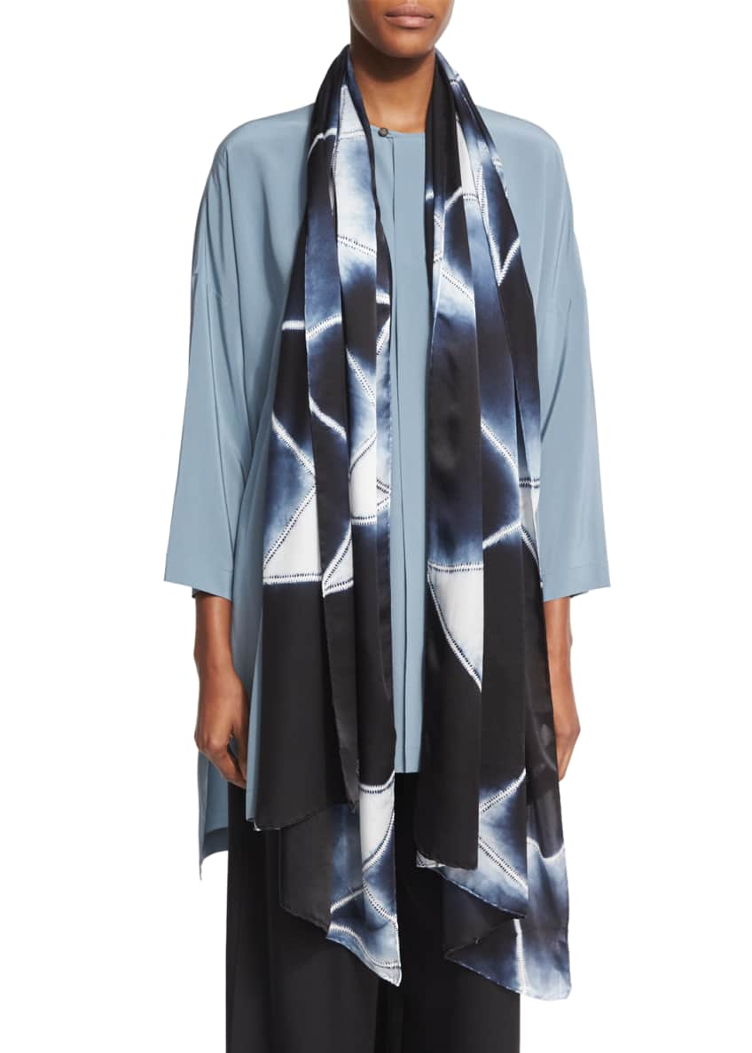Eskandar 3/4-Sleeve Round-Neck Silk Blouse & Matching Items