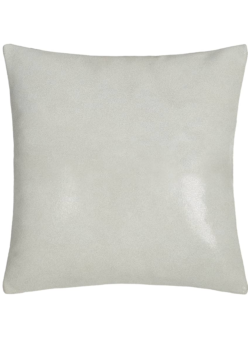 "Image 1 of 1: Clear Lacquer Print Leather Pillow, 16""Sq."