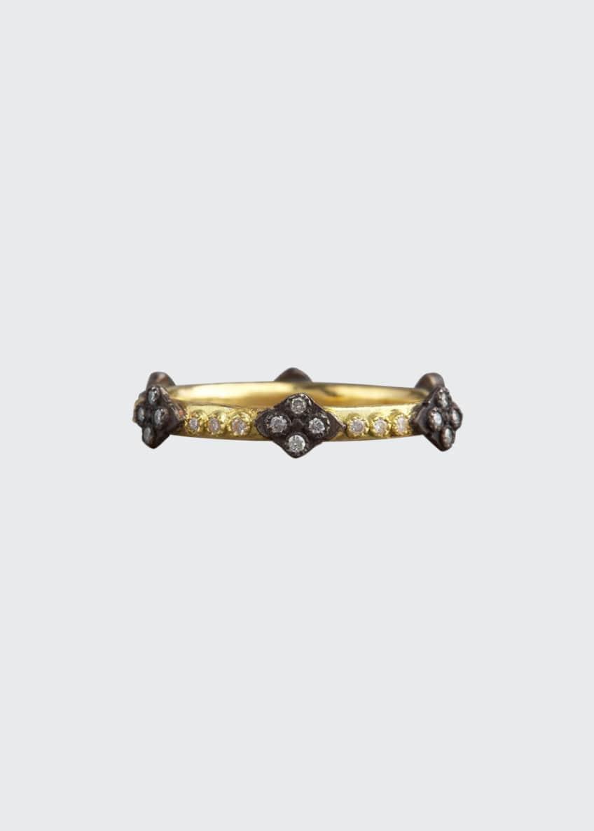 Armenta Crivelli Cross Diamond Ring, Gold