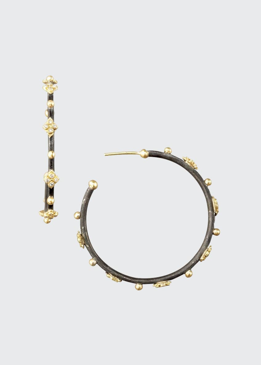 Armenta Diamond Cravelli Cross Small Hoop Earrings