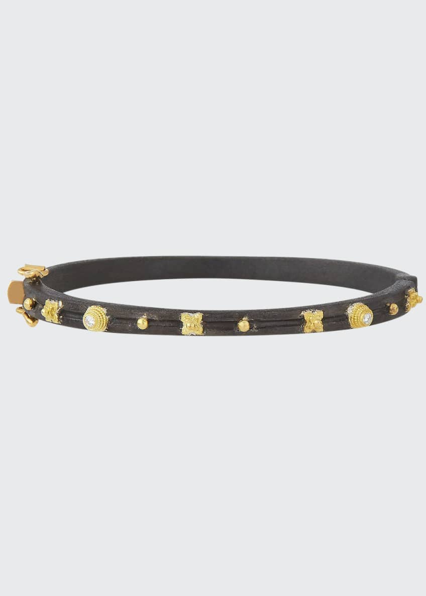 Armenta Midnight Diamond Huggie Bracelet
