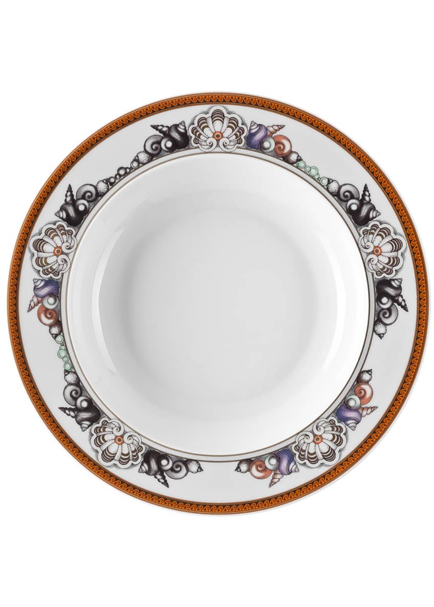 Versace La Mer Pink Rim Soup Bowl