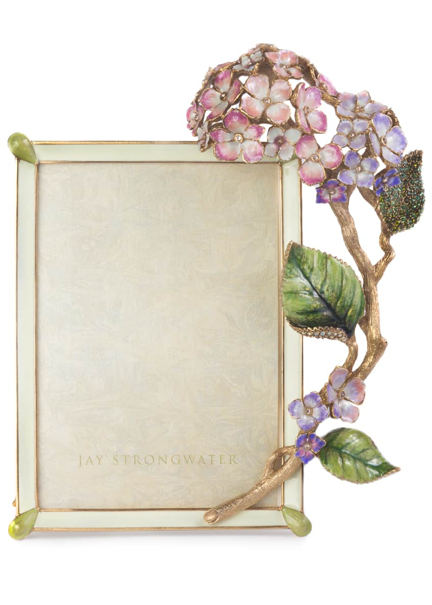 Jay Strongwater Gail Hydrangea Picture Frame, 5