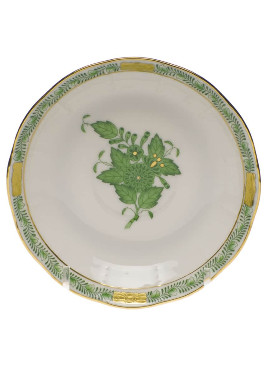 Herend Chinese Bouquet Green After Dinner Saucer