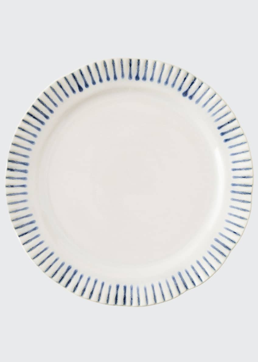 Image 1 of 2: Sitio Stripe Indigo Dessert/ Salad Plate