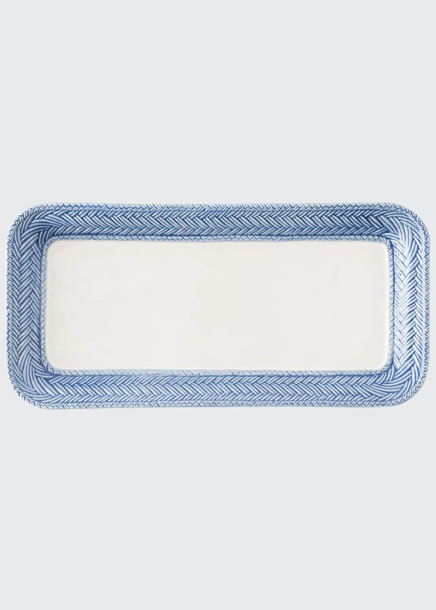 Image 1 of 1: Le Panier White/Delft Blue Hostess Tray