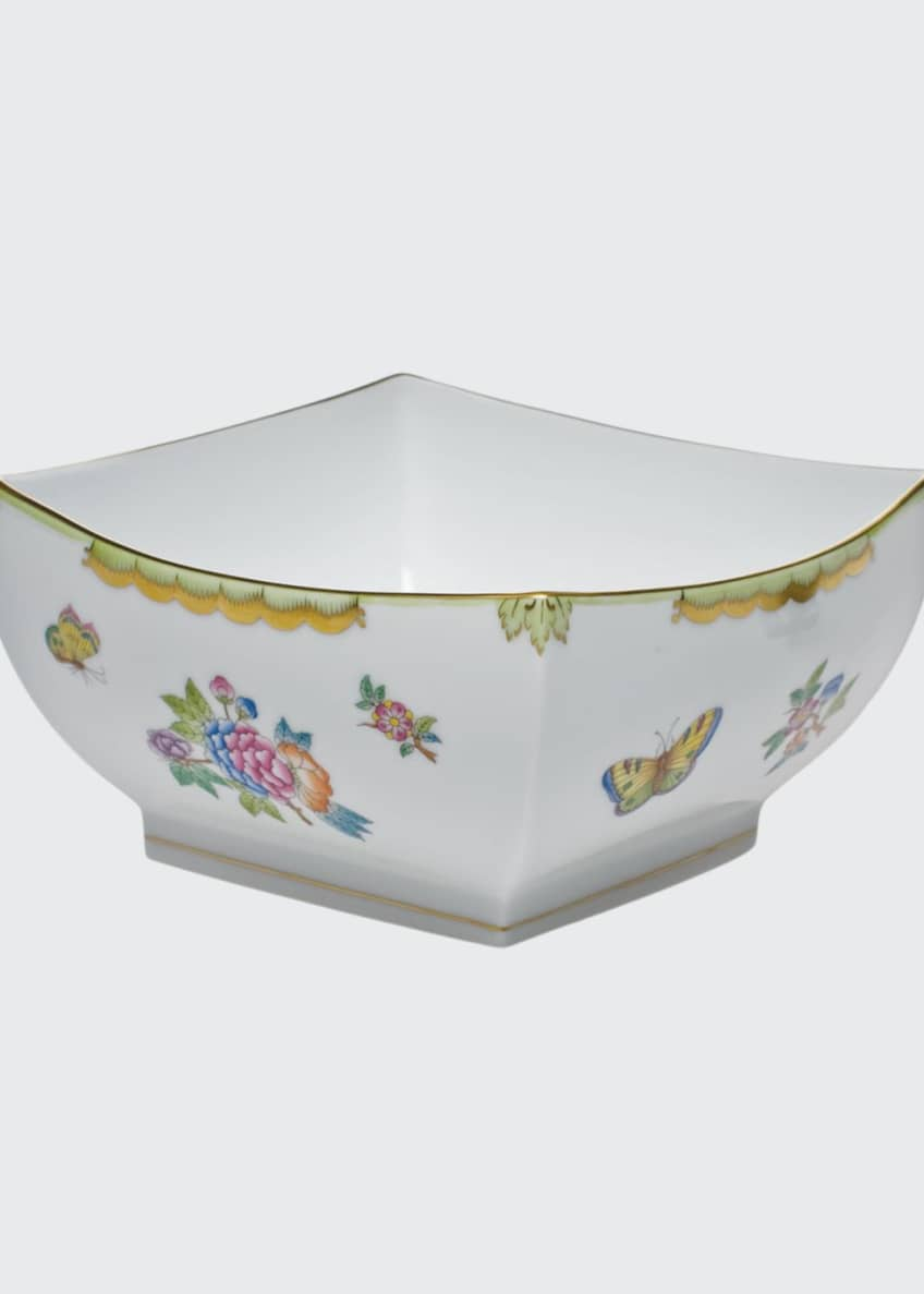 Herend Queen Victoria Large Square Bowl