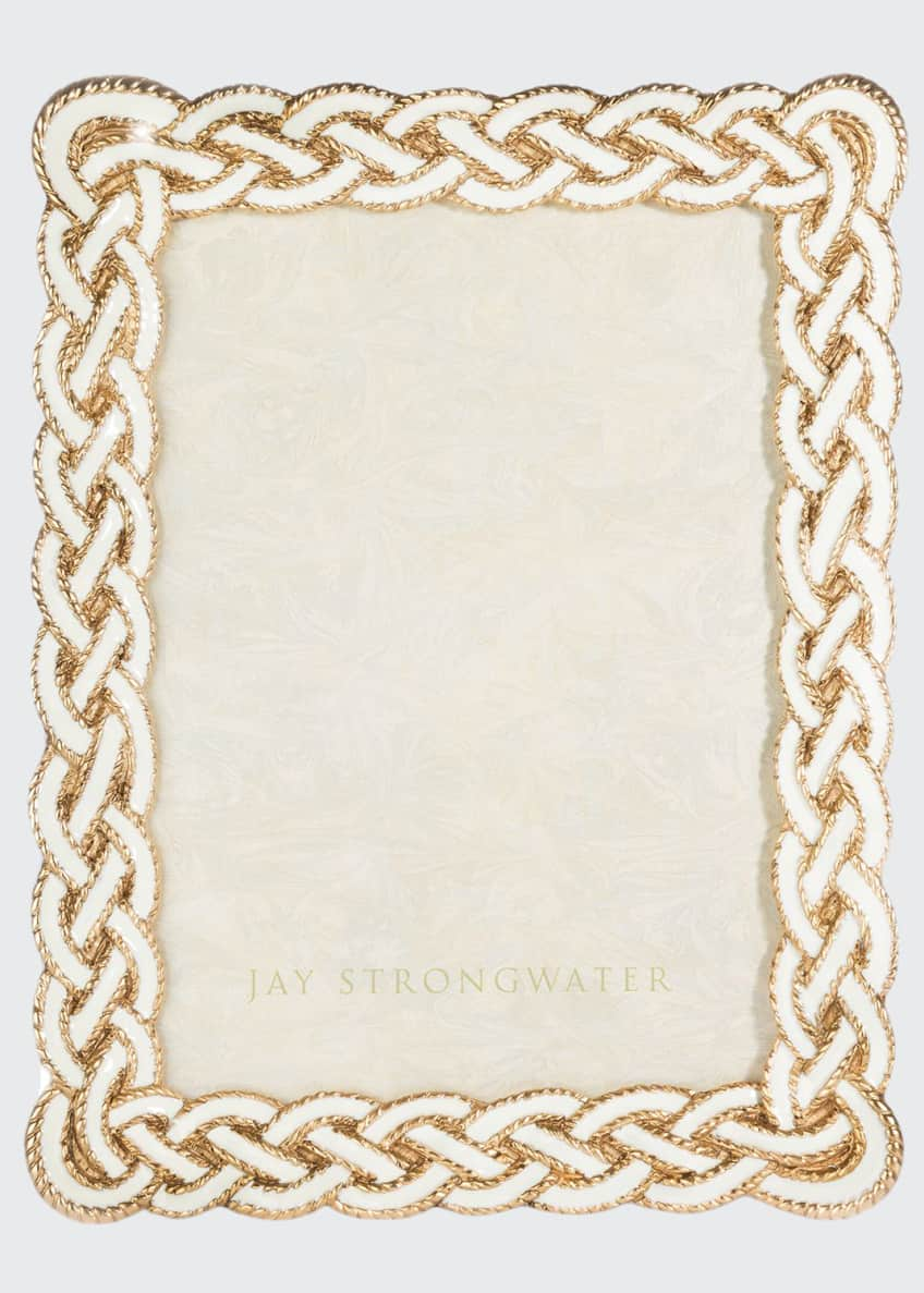 Jay Strongwater Cream Braided Picture Frame, 5