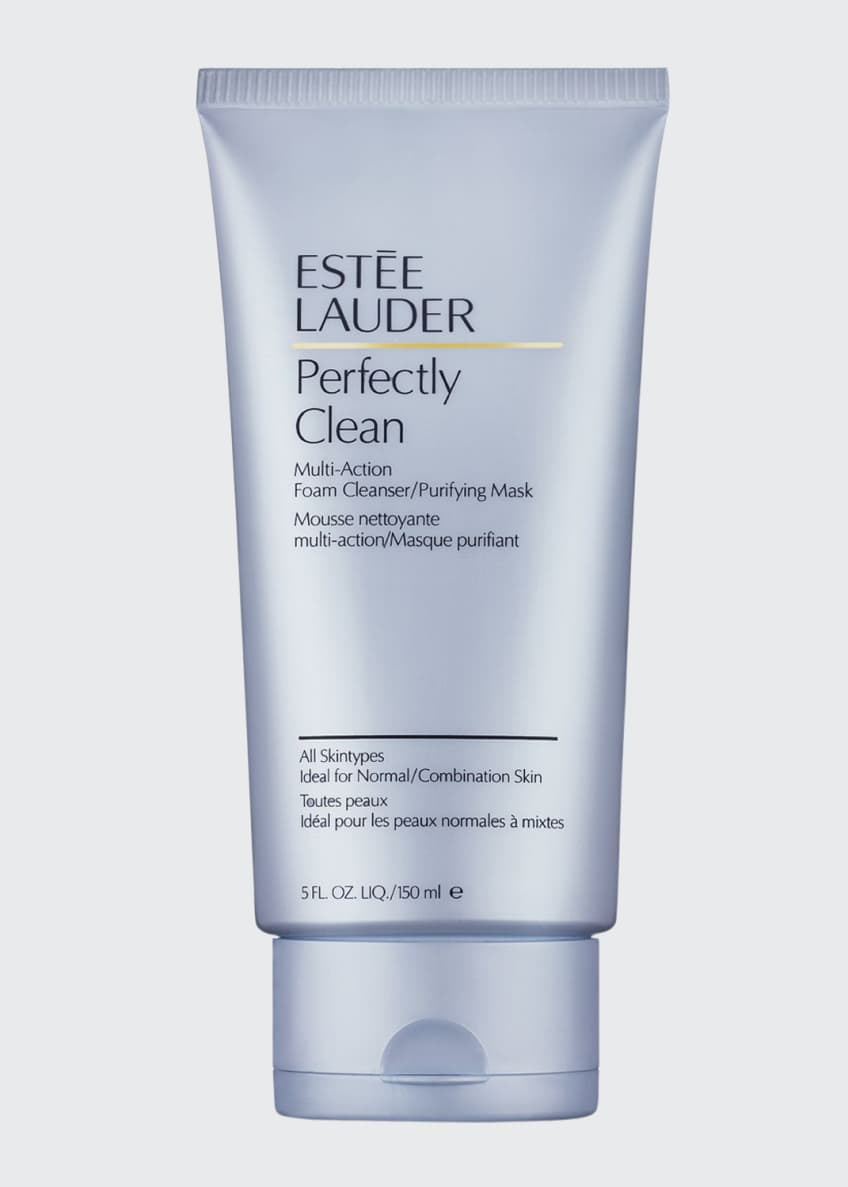 Estee Lauder Perfectly Clean Foam Cleanser/Purifying Mask, 5.0