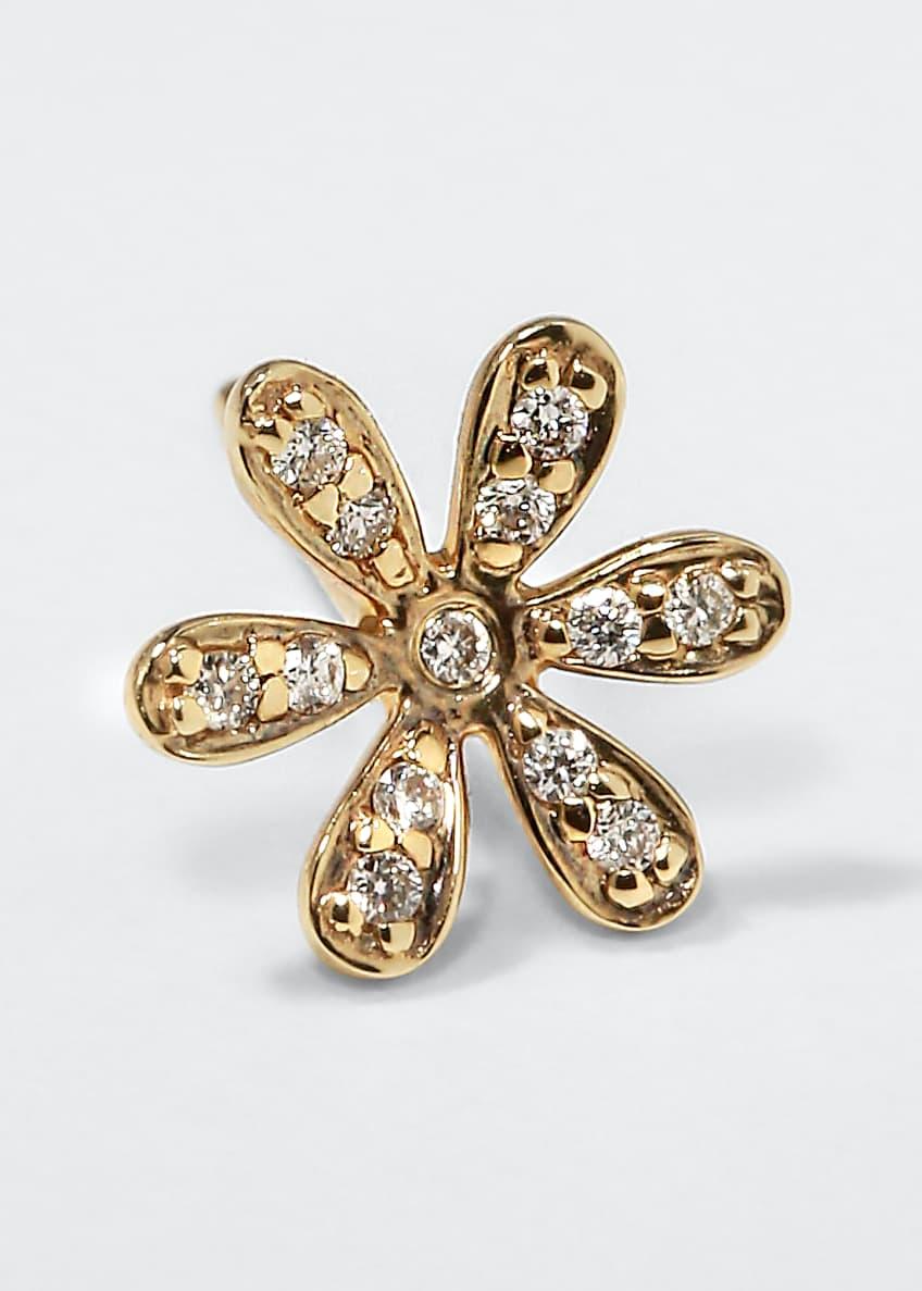 Sydney Evan 14K Gold Daisy Stud Earring with