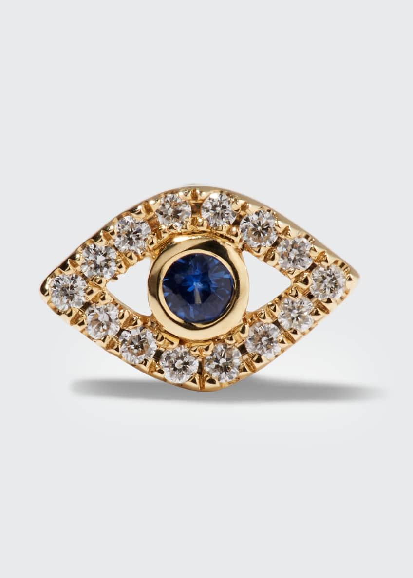 Sydney Evan 14k Diamond Mini Evil Eye Single