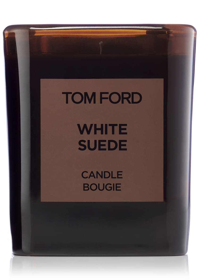 Image 1 of 2: White Suede Candle