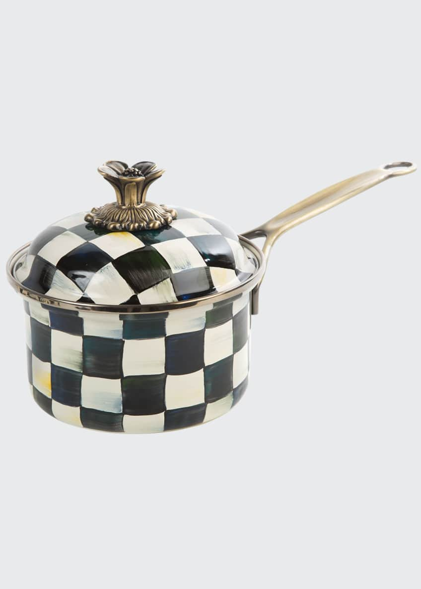 MacKenzie-Childs Courtly Check 1-Quart Saucepan