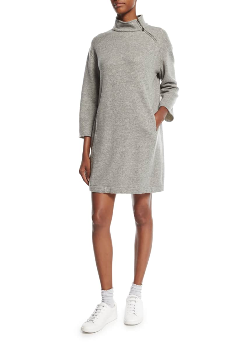 Loro Piana Double-Face Cashmere Zip-Front Hoodie & Matching