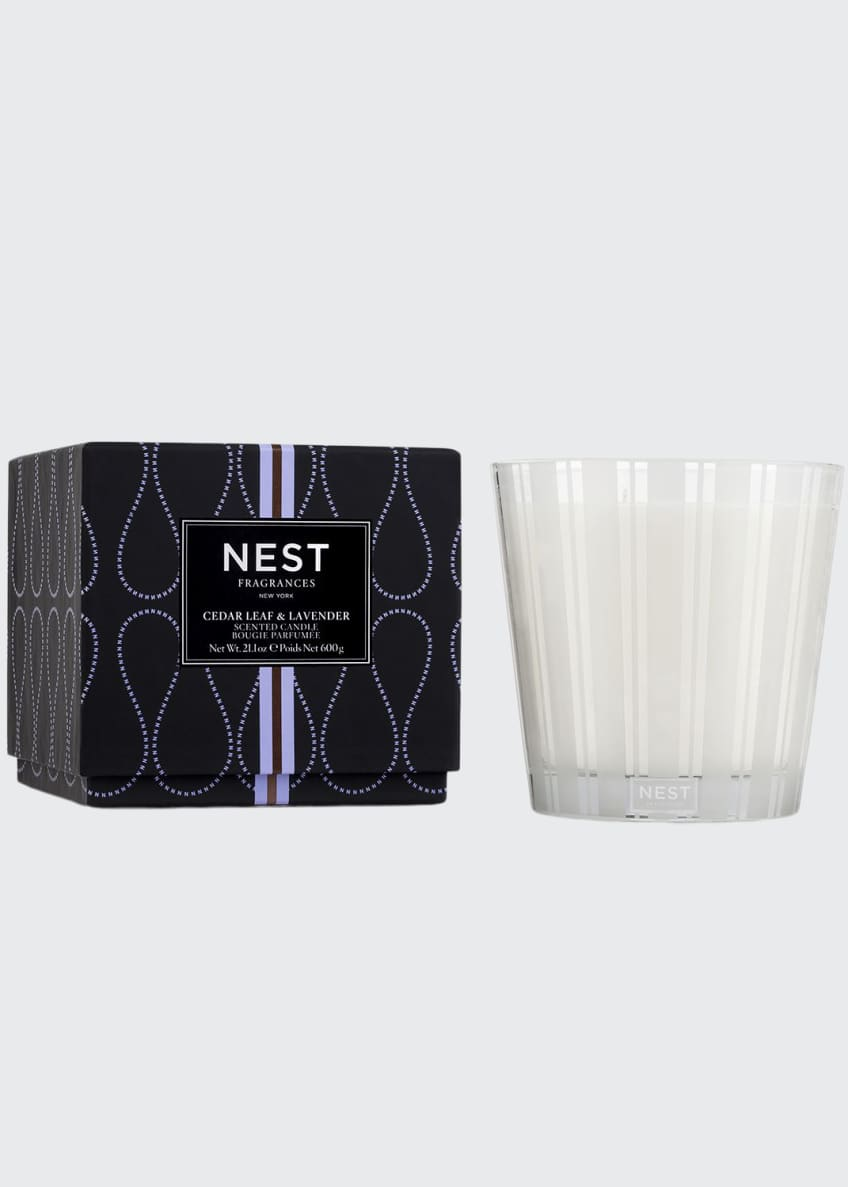 NEST New York Cedar Leaf & Lavender 3-Wick Candle, 21.2 oz./ 600 g - Bergdorf Goodman
