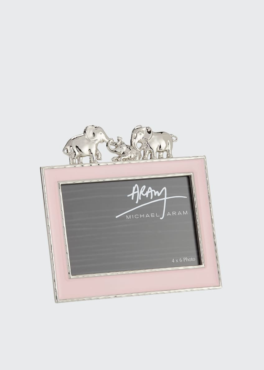 "Image 1 of 1: Girls' Elephant 4"" x 6"" Picture Frame, Pink"