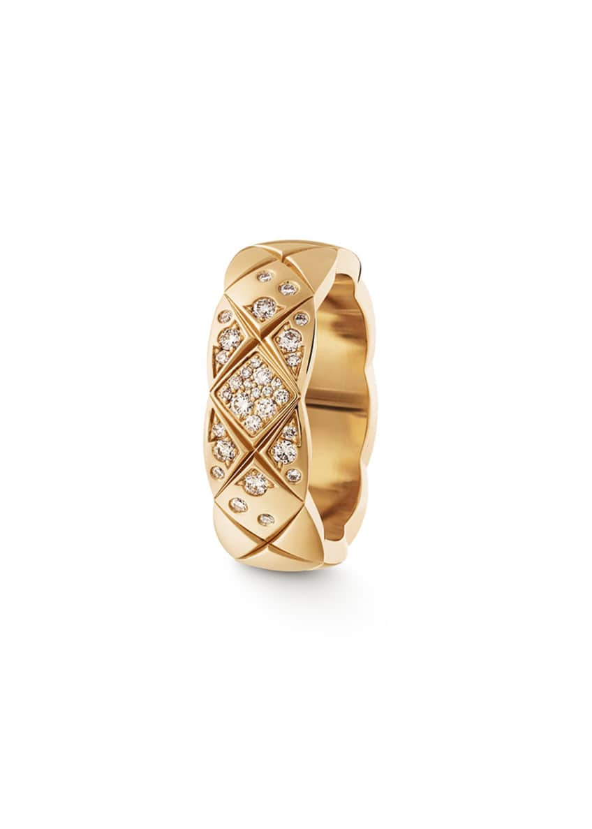 Image 1 of 1: COCO CRUSH RING IN 18K BEIGE GOLD AND DIAMONDS, SMALL VERSION.